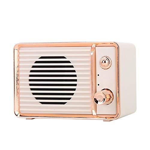 Lazmin DW01 Vintage Sound Box, Multifuncional Wireless Retro Radio Bluetooth Altavoz Sonido(Blanco)