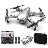 GAOFQ Mini Drones con cámara 4K HD para Adultos, Drone Plegable, Cámara Dual conmutable FPV Quadcopter, 360 & deg;Flip, transmisión en Tiempo Real, Tiempo de Vuelo de 30 Minutos, 2 baterías
