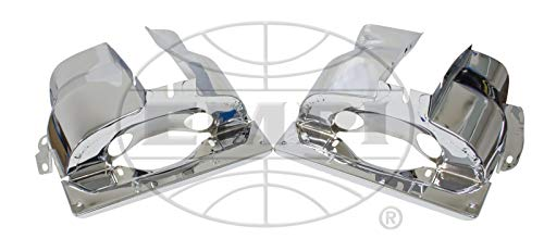Dual Port Cylinder Shroud For Type 1 VW, Chrome, Compatible with Dune Buggy