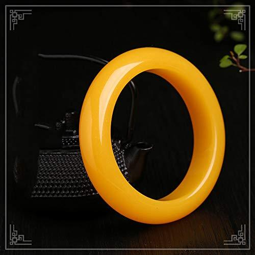 Yarmy Jade Armreif Bernstein Armband Natürlichen Gelben Alten Bienenwachs Jade Armband Weiblichen Schmuck Frauen