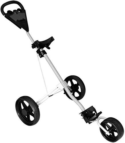 HY-WWK Robuster Und Leichter Golfwagen Schwenkbarer Faltbarer 3-Rad-Push-Pull-Cart Golfwagen Golf-Push-Cart
