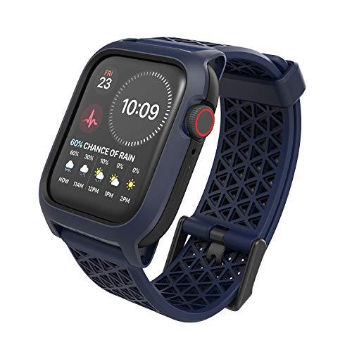Catalyst Custodia Designed for Apple Watch Series SE, Series 6, 5/4 44mm, Case for Apple Watch, inturino Sportivo Traspirante, Protezione Resistente, Custodia Antiurto per Apple Watch - Navy Blue