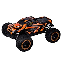 QHYZRV 1/16スケールカー、ブラシレスバージョン、速度45KM / H、四輪駆動レーシングカー、LEDヘッドライト、ビッグフットオフロード車、2.4GHzホビーリモートコントロールカー、2〜10歳の男の子と女の子に適しています