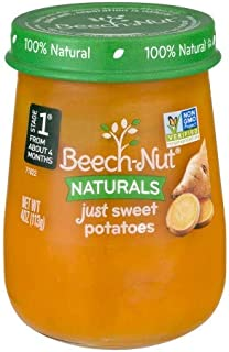 Beech-Nut Naturals Just Sweet Potatoes Stage 1, 4.0 OZ (Pack of 4)