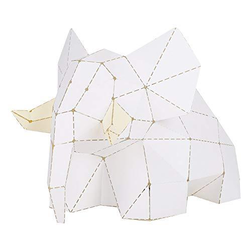 Garosa Boardattack Papercraft Kit DIY USB Powered Juguetes educativos para niños DIY Regalo Elefante Papel Plegable Kit de Origami para niños