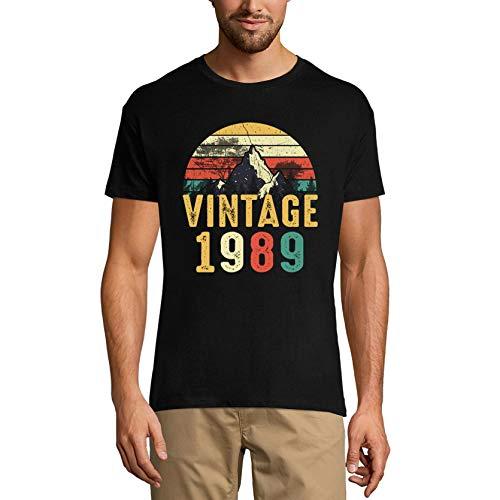 Ultrabasic Camiseta para hombre vintage 1989 – Retro 32 cumpleaños regalo camiseta - negro - 4X-Large