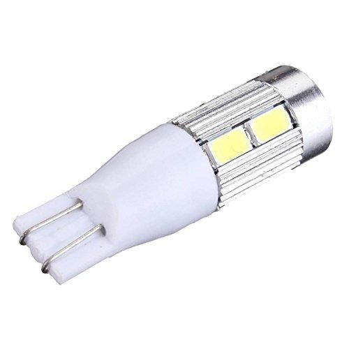 TOOGOO(R) T15 Voiture ampoule W16W Lumiere de Freinage 8pcs 5630 LED + CREE LED 10W 500LM DC 12V (Blanc Pur 6500K)