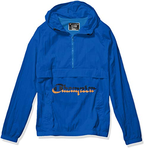 Champion Life Men's Anorak Windbreaker, Running Waves w/Shadow Script, Medium