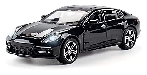Coches Coleccion Coche De Fundición 1:32 para Panamera Alloy Diecast Model Car Metal Car Toys Sonido Intermitente Tire hacia Atrás Niños Regalos Juguetes Regalo (Color : Negro)