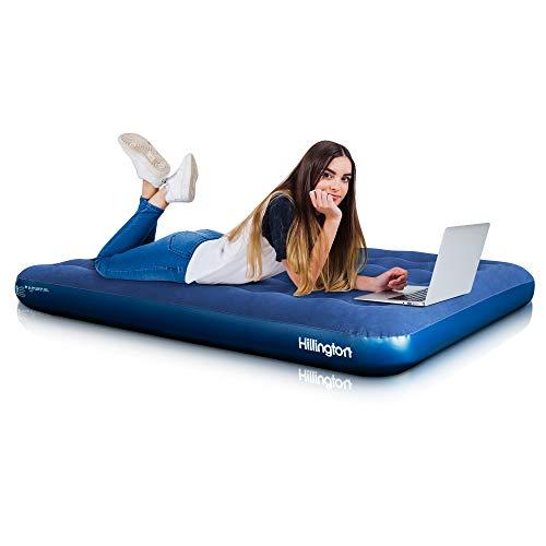 Utilisation int/érieure//ext/érieure gonflable DOUBLE AIR BED WITH PUMP floqu/é Matelas dappoint