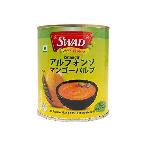 SWAD アルフォンソ マンゴーピューレ パルプ 850g 1缶 インド産 ALPHONSO MANGO PULP