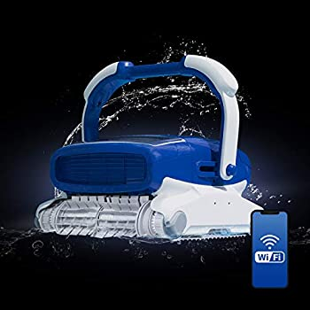 Aquabot Elite Pro Robotic Pool Cleaner with Bluetooth Massive Top-Load Cartridge Filters Dual Brushes and App