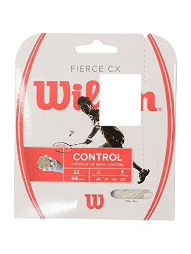 Wilson Badminton-Saite, Fierce CX, Multifilament, 10 Meter, Weiß, 0,72 mm Dicke, WRR943300