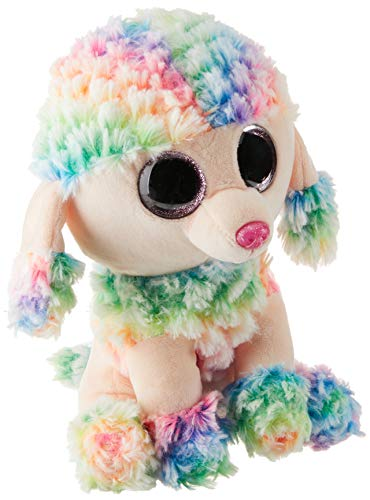 Ty Beanie Boo Rainbow Poodle Medium