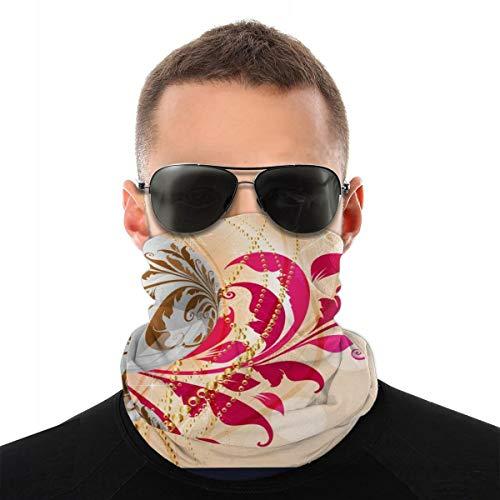 Vector Image_171 Kerstversiering met bloemenpatroon, multifunctionele doek, naadloos sportmasker voor buiten