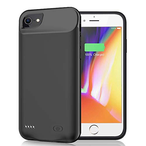 Battery Case for iPhone 6/6s/7/8/SE 2020(2nd Generation), 6000mAh Portable Rechargeable Charging Case for iPhone 6/6s/7/8/ SE 2020(2nd Generation) (4.7 inch) Extended Battery Charger Case (Black)