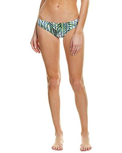 Red Carter Women's Palm Party Classic Hipster Bikini Bottom White XS