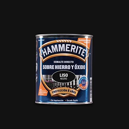 Hammerite Esmalte directo sobre hierro y óxido Liso Brillante Negro 750 ml