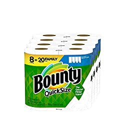 top rated Bounty quick size paper towel, white, 8 family rolls = 20 regular rolls 2021