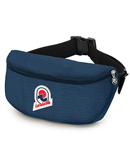 Invicta Waist Bag 30 Solid Marsupio sportivo, 30 cm, 4 litri, Blu