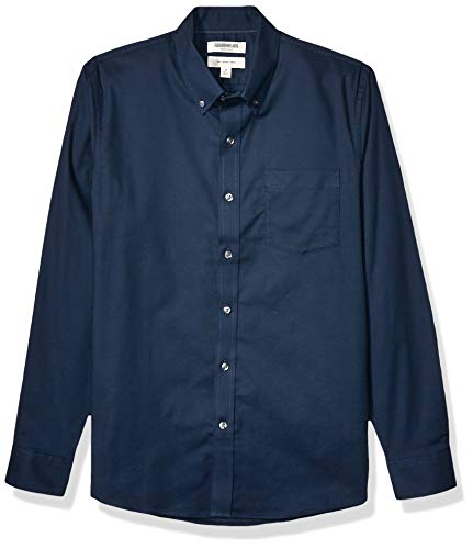 Goodthreads Slim-Fit Long-Sleeve Stretch Oxford (All Hours) button-down-shirts, Navy, XX-Large