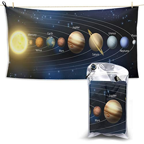 An Illustration Of The Planets Of Our Solar System Baby Girls Beach Towel Quick Towel Dry Yoga Mat Microfiber Towel Best Travel Towel 27.5'' X 51''(70 X 130cm)best For Gym Travel Camp Yoga Fitnes