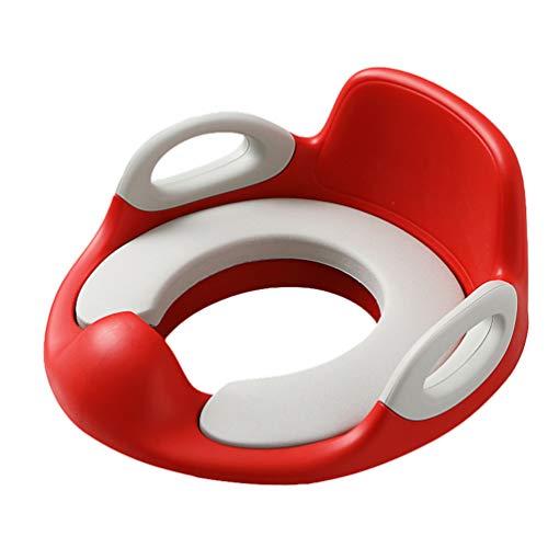 N / A Kinder Toilettensitz, Töpfchen Trainer WC Sitz für Jungen und Mädchen, Ergonomisch Geformt mit Spritzschutz Rot1 Einheitsgröße