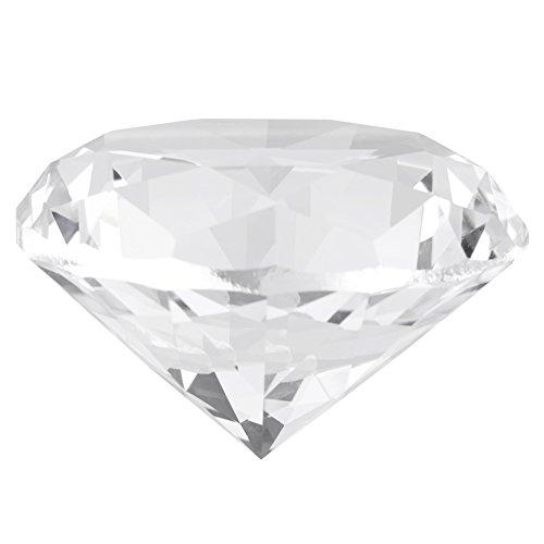 Glazen diamant juwel presse-papier helder fonkelend kristal steen voor bruiloftsliefhebbers decoraties wooncultuur