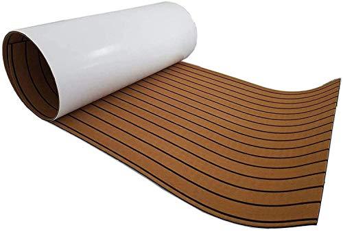 Revestimiento de suelo para yate de teca, 240 x 90 cm, espuma EVA, color marrón teca, cubierta de suelo antideslizante