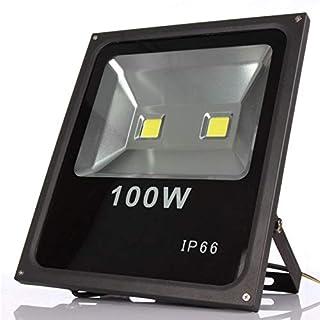 100 وات ليد كشاف خارجي، مقاوم للماء IP66، AC85-265V LED FloodLight دافئة بيضاء