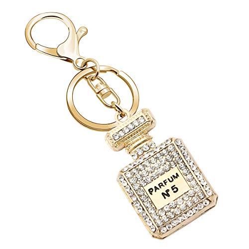 Sleutelhangers voor vrouwen kristal sleutelhanger strass parfum fles sleutelhanger Kerstmis Verjaardag Gift tas portemonnee telefoon hanger voor vrouwen meisjes