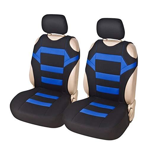 WXFXBKJ Asiento 2pcs del Coche Universal Portadas - Asiento Tapas Frontales de Malla Esponja Accesorios Interior diseño de la Camiseta - for el Coche/Truck/Van (Color Name : Pink)