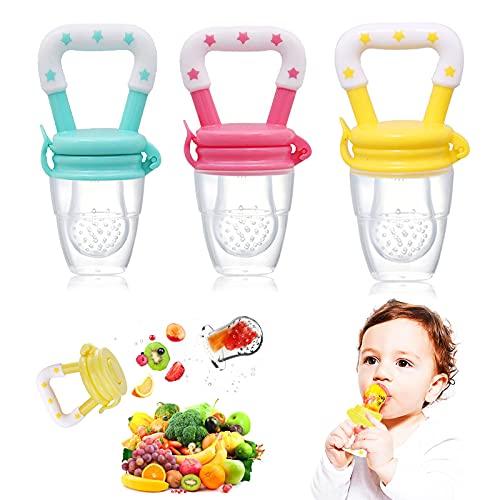 alimentador bebe, Chupete de bebe, chupetes, Chupete extra pequeño para Recién Nacidos, Alimentador antiahogo bebe, Tetinas de Silicona sin BPA para Mordedor Verdura Papilla Alimentación Suplementaria