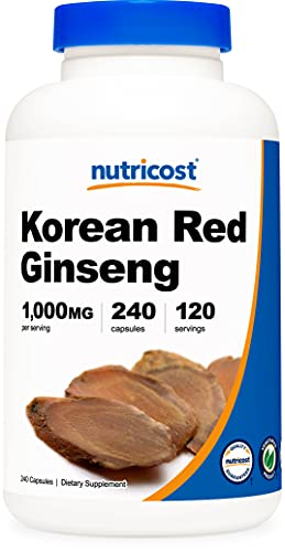 Nutricost Korean Ginseng 500mg, 240 Capsules -...