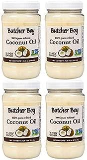 Butcher Boy Coconut Oil | 100% Pure Refined | 7.25 fl oz | 4 Pack