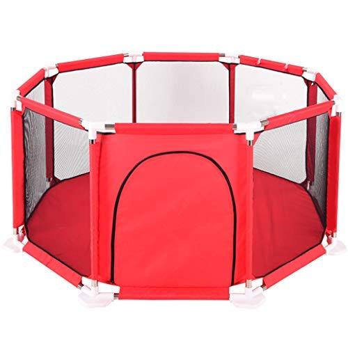 no brand Accueil Protection Playpen Parcs for Enfants Crawling Enfant en Bas âge Guardrail intérieur mer extérieure Ball Pool Playpen (Color : Red)