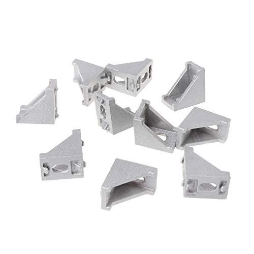 ZChun 10 stuks 2028 bevestigingshoek 20x28 l stekker aluminium hoekhoek joint brace