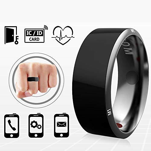 PURROMM Smart NFC Multifunktionale Ring für Android Windows Phones Zahlung Black Titanium Schmuck,9