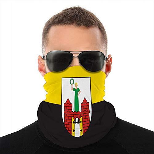 ncnhdnh Mikrofaserhals Kopfbedeckung Schal Abdeckung Flagge von Magdeburg in Saxony Anhalt in Deutschland Schal