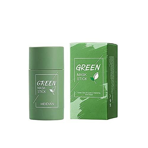 Mascarilla de arcilla limpiadora de té verde, hidrata el control de la grasa facial, limpia profundamente los poros, mejora la piel, para hombres, mujeres, todo tipo de piel
