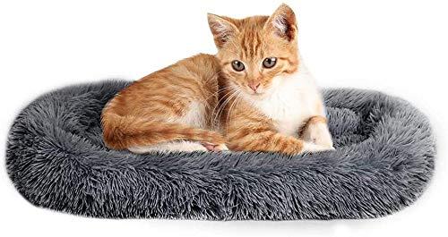 Alfombrilla de Cama para Mascotas con Refuerzo de Felpa, Alfombra de Lujo para Dormir Profundo, Pelusa de Lujo, Piel de Fuax, sofá Rectangular
