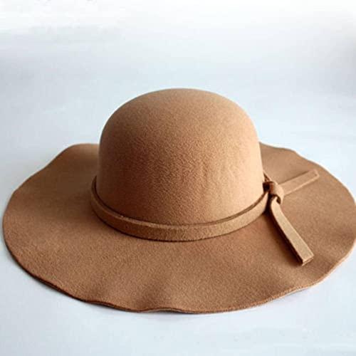 N\C Sombreros de Mujer Retro Que se encrespan, Sombreros de Mujer, Bombines de Fieltro Flexible, Sombreros cloché, Sombreros de Sol, Sombreros de Playa, Sombreros de Mujer Retro