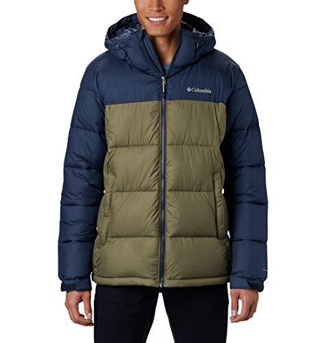 Columbia Pike Lake Hooded Jacket, Giacche (Hardshell) Uomo, Stone Green, Collegiate Navy, M