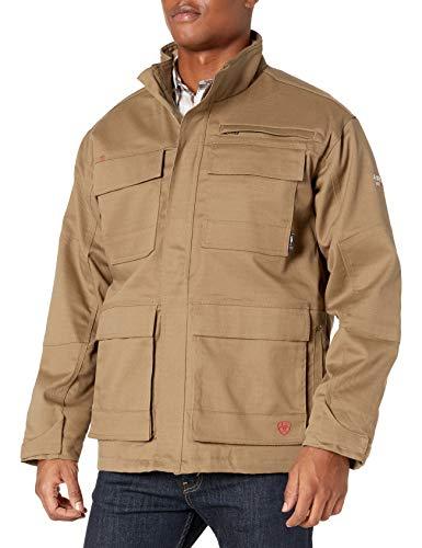 Ariat Men's Flame Resistant Cargo Canvas Jacket, Field Khaki, LG