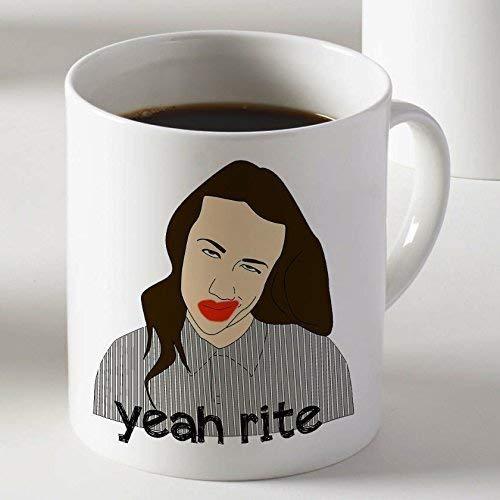 Miranda Sing Yeah Rite Taza de café de dos lados 11oz