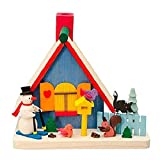 Pinnacle Peak Trading Company Colorful Snowman House Wood German Christmas Incense Smoker Made in Germany New
