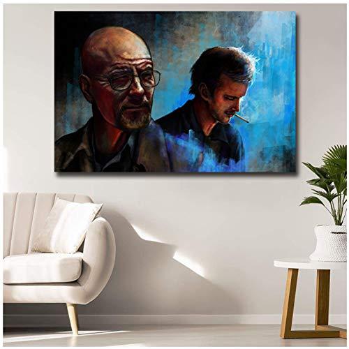Breaking Bad Zeg nooit Vaarwel Roken Man Canvas Prints Schilderijen voor Woonkamer Poster Op De Muur Home Decor -60x100cm Geen Frame