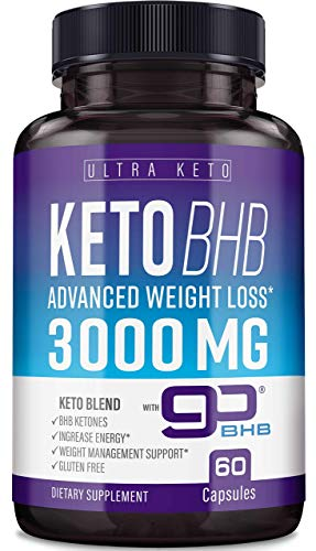 Best Keto Diet Pills - Utilize Fat for Energy with Ketosis - Boost Energy & Focus, Manage Cravings, Support Metabolism - Keto BHB Supplement for Women and Men - 30 Day Supply