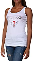 Guess Camiseta Sin Mangas Mujer con Logotipo Triangle