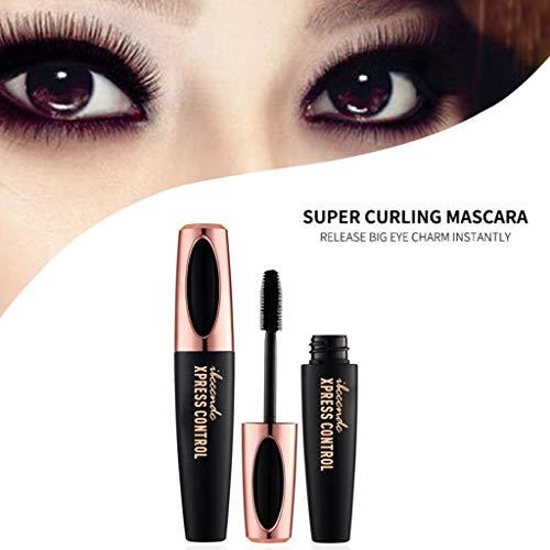 S-TROUBLE Étanche Longue Durée 4D Lash Mascara Fibre de Soie Curling Extension de Cils Noir Épais Allongement Crème Maquillage Cosmétique 10 CM